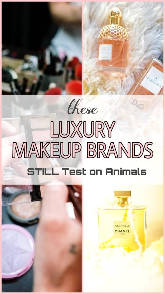 Luxe Makeup Brands testing animals