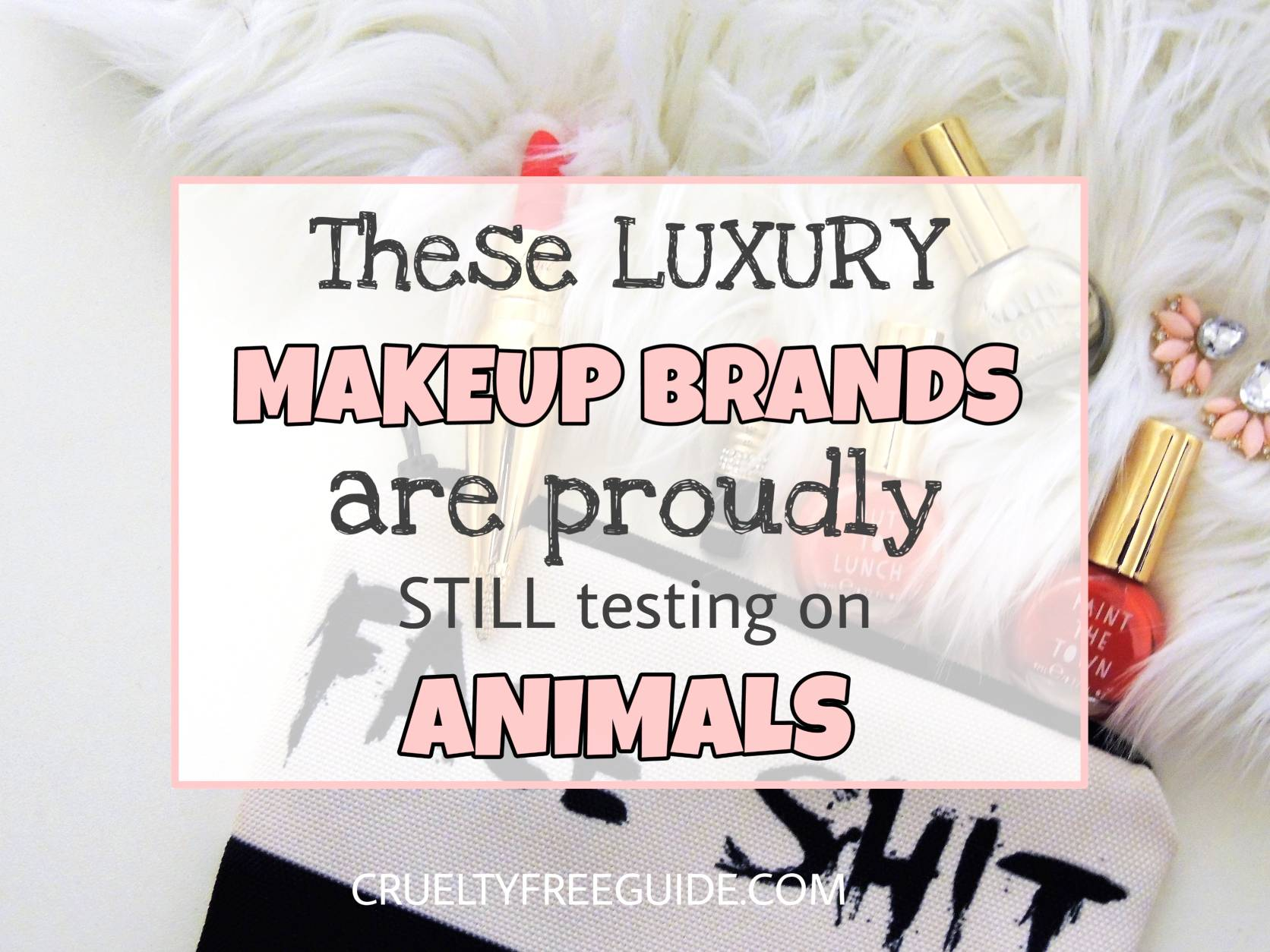 Luxury Makeup Brands Still Testing On