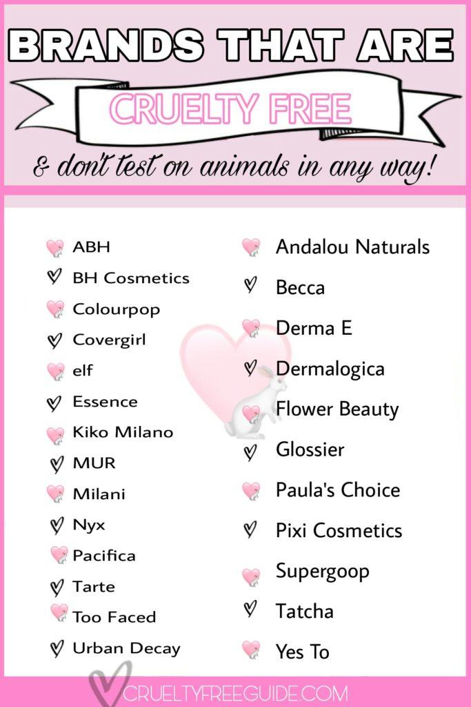 Cruelty Free Makeup Brands List